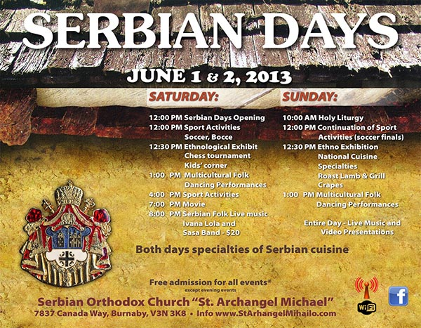 Serbian Days - June 1-2, 2013