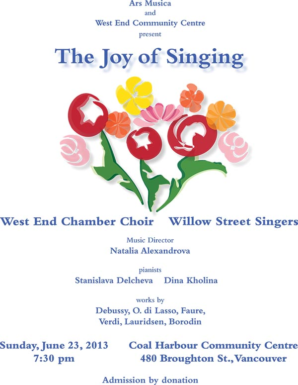 The Joy of Singing - June 23, 2013